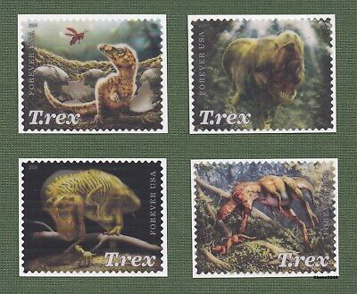 *NEW* 2019 Tyrannosaurus Rex (Singles Set of 4) 2019 Mint NH *In Stock*