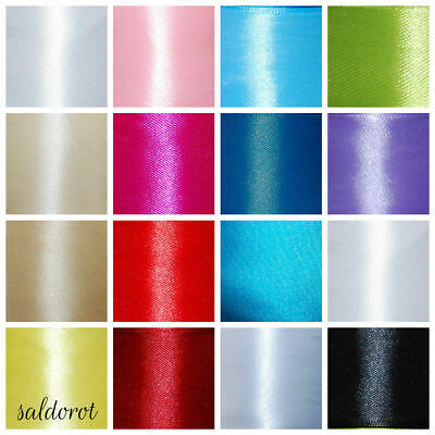 VARIOUS Colours * Satin Ribbon * Cut Lenght 6mm 12mm 25mm 38mm 50mm  CHEAPEST