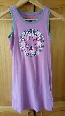 GIRLS CONVERSE Purple CASUAL DRESS AGE 10-12 YEAR & NEW HAT Size Youth
