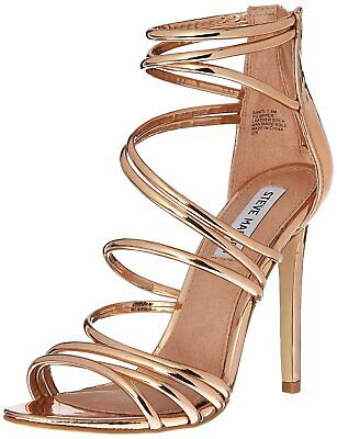 26816a6bc9f STEVE MADDEN WOMENS Satya Leather Open Toe Special Occasion, Rose ...