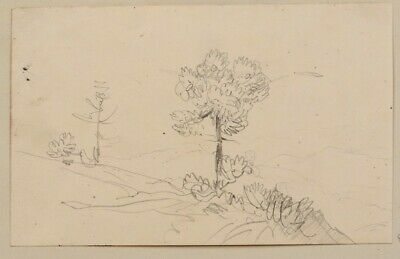 Drawing Théodore Gudin Landscape Shaft Mountain Alps Savoie Swiss 19th