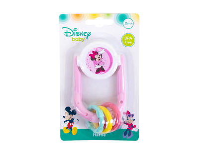 UK Disney Mickey Minnie Mouse BABY RATTLE  PLAY TOY TEETHER New Born 0 Months