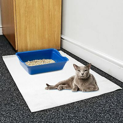 Cream Large Jumbo Foam Cat Kitten Litter Tray Floor Mat Scatter Control Cleaning