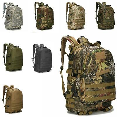 40L Camouflage 3D Tactical Outdoor Military Rucksack Backpack Camping Hiking Bag