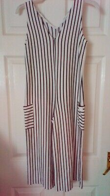 Girls  M And S White Playsuit Age 9/10 Yrs Very Good Used Cond Marks And Spencer