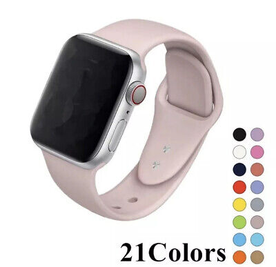 For Apple Watch Series 1 2 3 4 38/40/42/44mm Soft SILICONE Sport Strap Band