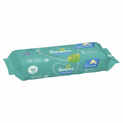 Pampers Baby Changing Wipes Hygienic Fresh Clean Baby Scent Disposable - 52 Pack