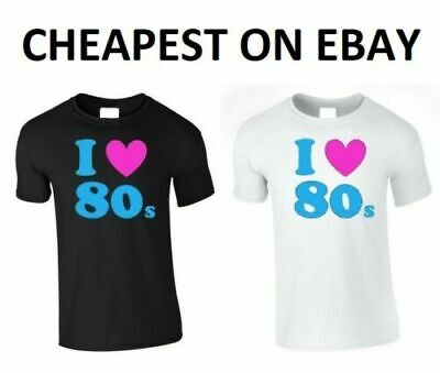 I Love The 80's Fancy Dress T Shirt Top Tee Choose Life George Back To The 80's
