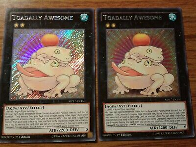 x2 Toadally Awesome (MP17-EN150) Secret Rare 1st Edition NM