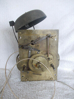 Early 1800? 8 Day Longcase Clock Movement, Sold As Spares Or Repair