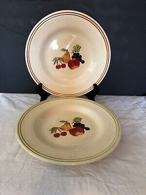 "Tabletops Unlimited Lifestyles SIMPLE FRUIT Dinner Plates 11"" Set Of 2"