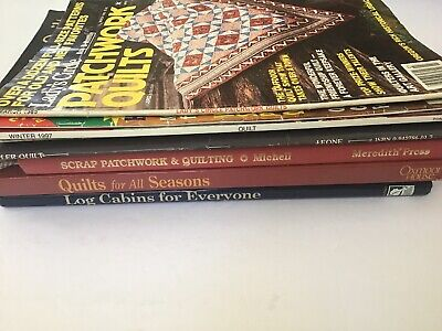 Lot of 9 Quilting Books And Magazines assorted Quilting Craft Books