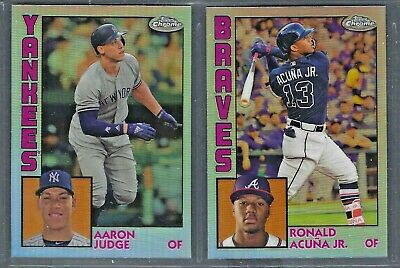 2019 Topps Chrome 1984 Topps Insert Refractor Complete Your Set You Pick!