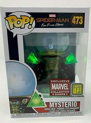 Marvel Collector Corps Spider-Man Far From Home Mysterio Light-Up Funko POP #473