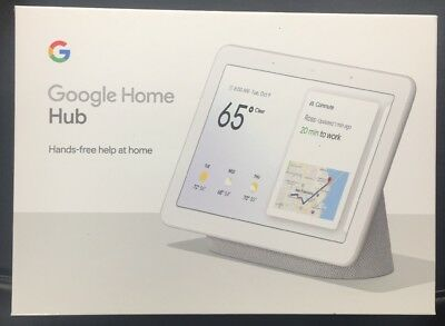 Google GA00516-US Home Hub with Google Assistant - Chalk Brand New Factory Seal