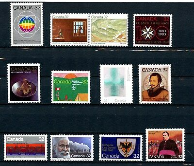 Canada MNH Commemoratives Lot 1983 Incl Writers Scouting Newfoundland Etc. J077