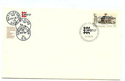 Canada FDC #1124 Capex 87 Saint Ours Post Office 1987  38-1