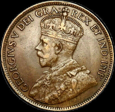 1917 Canada Large Cent 1C George V Key Date Better Grade VF XF