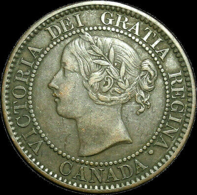 1859/8 Canada Large Cent Queen Victoria Variety Better Grade Nice coin!