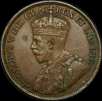 1919 Canada Large Cent 1C George V Key Date Better Grade XF