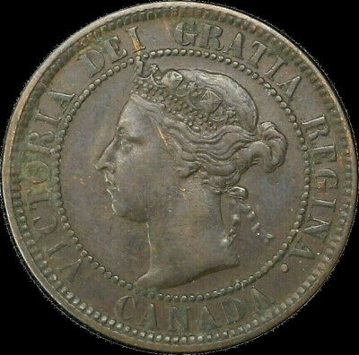 1901 Canada Large Cent 1C Queen Victoria Key Date Better Grade VF