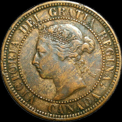 1888 Canada Large Cent Queen Victoria Nice Coin!