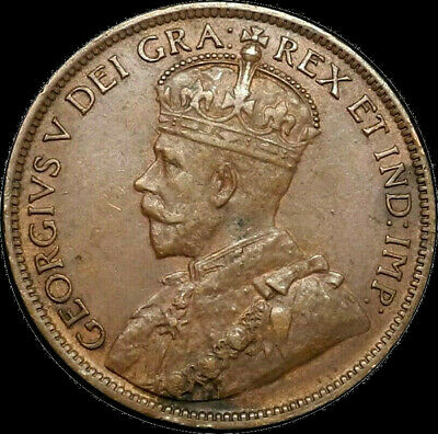 1916 Canada Large Cent 1C George V Key Date Better Grade VF XF