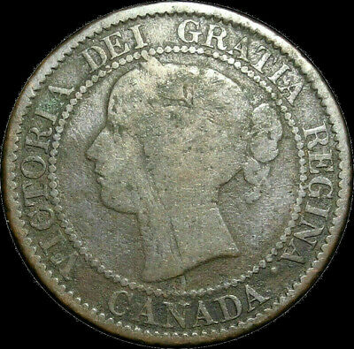 1859/8 Canada Large Cent Queen Victoria Variety Nice coin!
