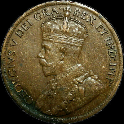 1919 Canada Large Cent George V Nice Coin!