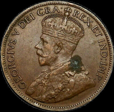 1916 Canada Large Cent 1C George V Key Date Better Grade XF