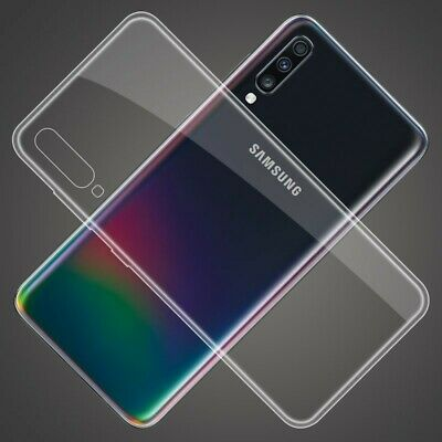For Samsung Galaxy A70 A50 A40 Slim Crystal Clear Soft Silicone Phone Case Cover