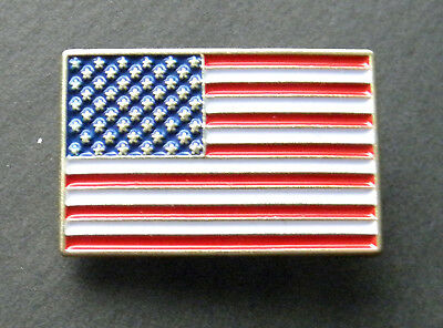 Usa Old Glory Stars Stripes Lapel Hat Pin Rectangle Flag Patriotic Badge 1 Inch