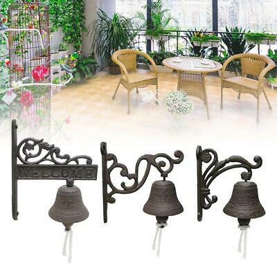Cast Iron Antique Door Bell Bracket Wall Mounted Doorbell Garden Home Decoration