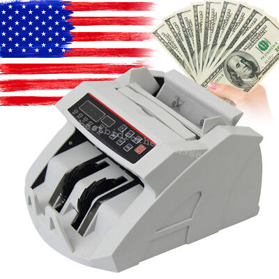 Money Bill Cash Counter Bank Currency Counting Machine UV&MG Counterfeit Detect
