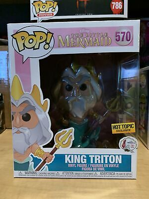 Funko Pop King Triton 6 Inch #570 Disney Little Mermaid Hot Topic Exclusive