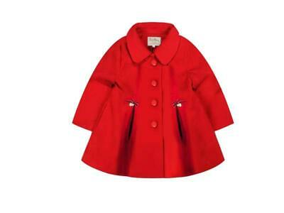 Girls Fully Lined Winter Coat Red or Navy QY629