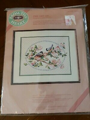 Dimensions 51024 crewel embroidery kit The Art of... caring sharing loving birds
