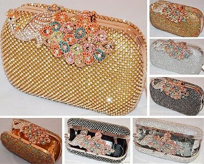 Schlagring Top Diamant Bling Kristall Strass Abend Tasche Ring Clutch Partys