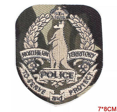 Northern Territory Police Crest Military, Kangaroo - Iron On Patch Badge