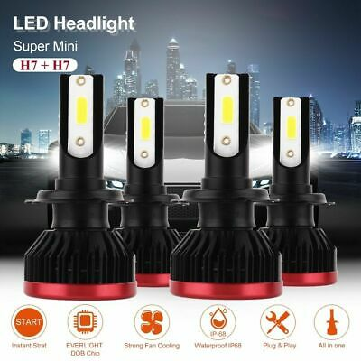 Mini H7 220W 20000LM CREE LED Chips Headlight Bulbs Conversion Kit Lamps LD1771