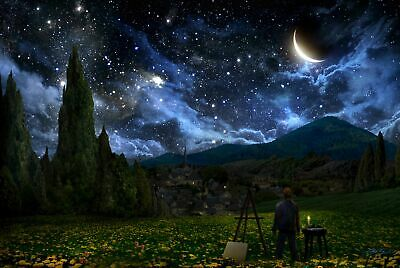 """STARRY NIGHT FANTASY  STARS SKY SPACE MOON 35"""" Poster"""