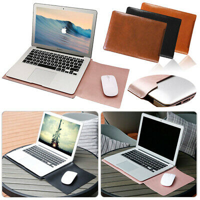 "US Fr 13"" 13.3"" Macbook Laptop Ultrabook Leather Sleeve Bag Case Cover Mouse Pad"