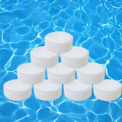 50PCS Swimming Pool Chlorine Tablets Water Cleaning Sterilization Effervescent