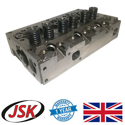 Complete Cylinder Head Assembly & Valves for 3-Cyl JCB 2CX 406 w Perkins D3.152