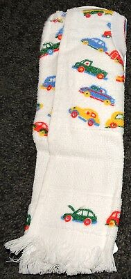 2 Bibs Embroider Your Own Baby Toweling Cars Trucks Buses 14Ct Aida Cotton New