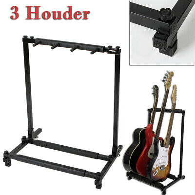 3 Multi Guitar Stand Foldable Acoustic Electric Bass Guitar Rack High Quality