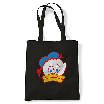 Barry Sheene Duck, Biker Tote - Reusable Shopping Canvas Bag Gift