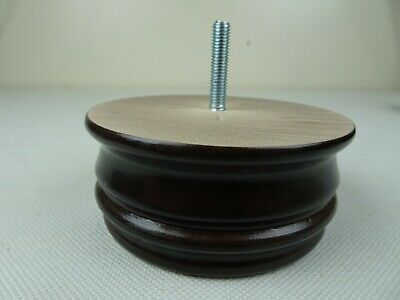Replacement Funiture Wooden Bun feet in Antique Brown set of 6