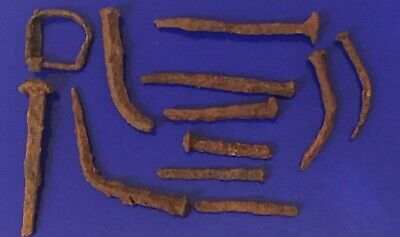 Ancient Roman Nails & Belt Buckle Metal Detecting Find 200-400AD