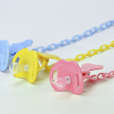Infants Baby Dummy Pacifier Soother Nipple Chain Clip Buckle Anti-out Fuctional